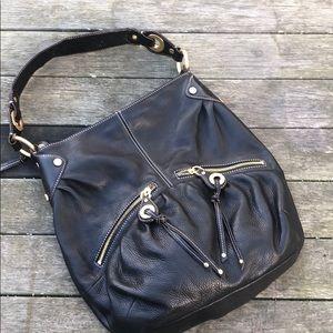 B Makowsky Black Hobo shoulder Bag